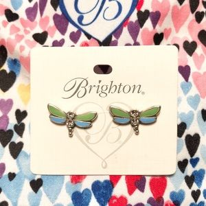 Brighton green and blue dragonfly earrings.